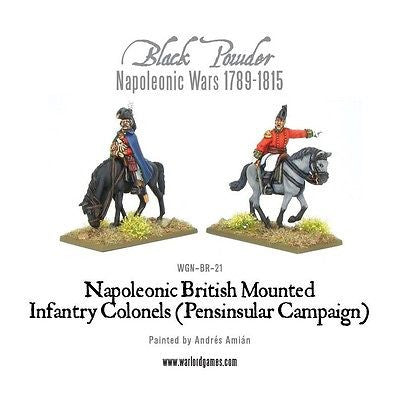 Warlord Games - Black Powder - Peninsular british mounted infantry officers - 28mm