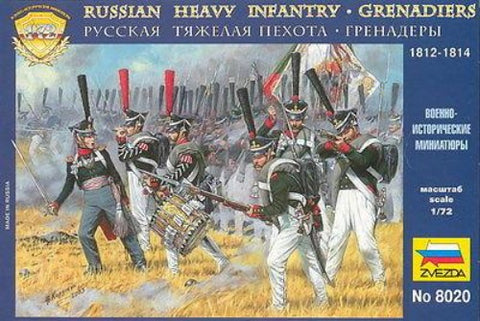 Zvezda - 8020- Russian heavy infantry - Grenadiers 1812-1814 - 1:72
