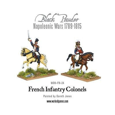 Warlord Games - Black Powder -blister- Mounted napoleonic french infantry colonels - 28mm