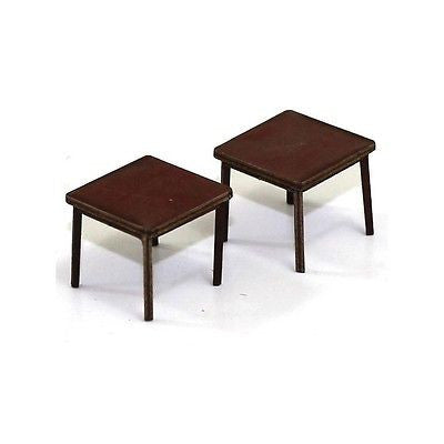 4GROUND - Small table (B) in medium wood - 28mm - 28S-FAB-038M