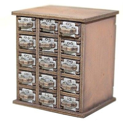 4GROUND - Safety deposit boxes 01-15 in light wood - 28mm - 28S-FAB-047L