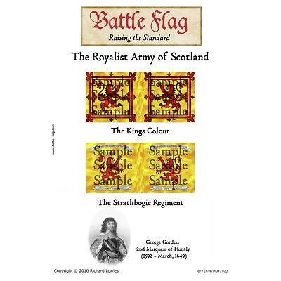 Battle Flag - Royal Scotland: The Marquis of Huntly (English Civil War) - 28mm