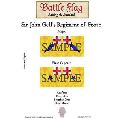 Battle Flag -  Sir John Gell's Regiment of Foote A (English civil war) - 28mm
