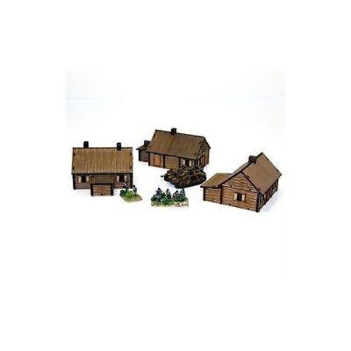 4GROUND - Log timber village (3 houses) - 15mm - 15S-EAW-111