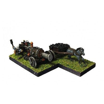 Warmaster - Dwarves Flame Cannon - 10mm - PAINTED