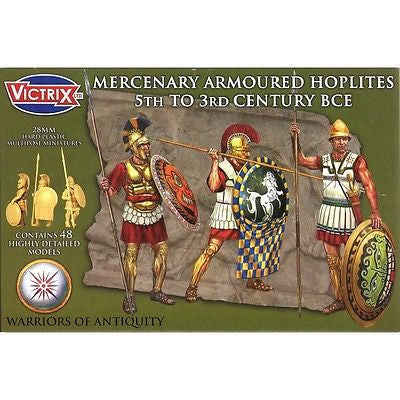 Victrix  VXA004 - Mercenary Armoured Hoplites 5th to 3rd Century BCE - 28mm