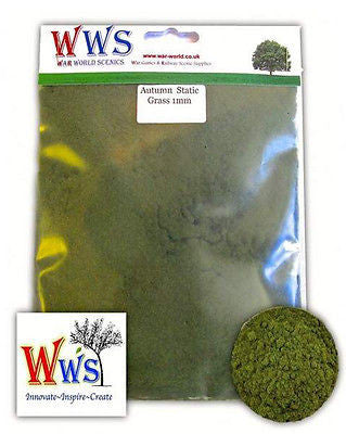WWS - Static grass - Autumn mix (100g.) - 1mm