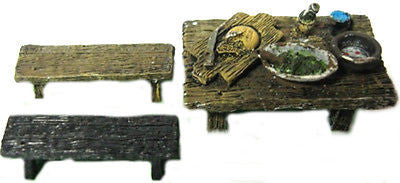 Scenery ES49 Wargame 28mm Wall with fortification