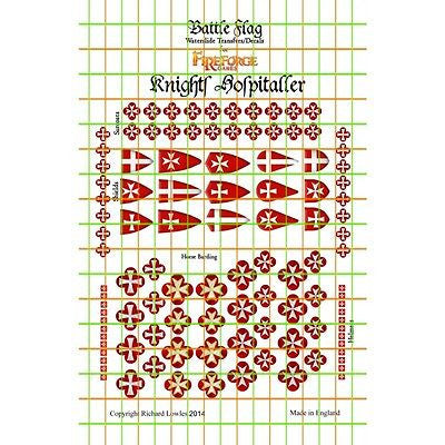 Battle Flag - Knights hospitaller (Early Medieval) - 28mm - FGHK1 A
