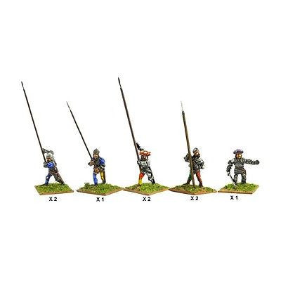 Mirliton - Italian Pikemen of second rank - 15mm