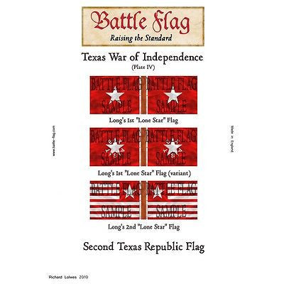 Battle Flag - Texas War of Independence Plate IV (Texas War of Independence) - 28mm