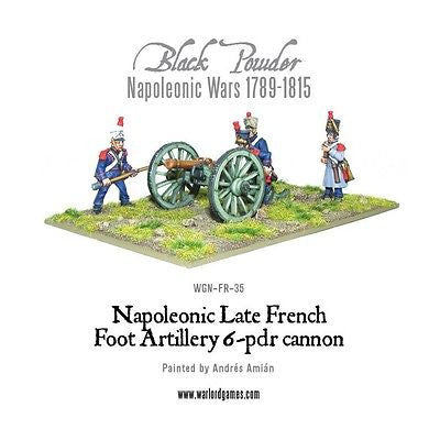 Warlord Games - Black Powder - blister - French nap. 6 pounder foot artillery - 28mm