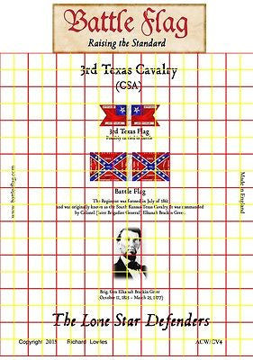 Confederate Flag - 3rd Texas Cavalry (American Civil War) - 28mm