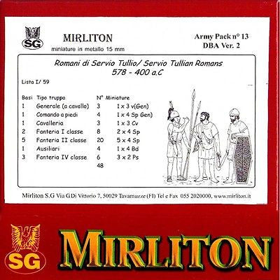 Mirliton - Servio Tullian romans 578-400 a.C. - 15mm