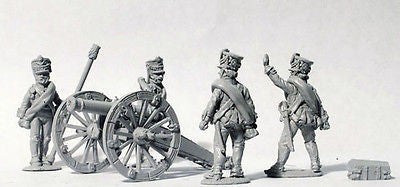 Perry - RN5 - Russian Foot Artillery firing 6pdr (1809 Kiwer) - 28mm