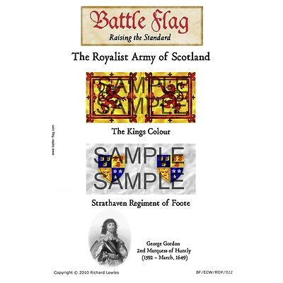 Battle Flag - Royal Scotland:The Marquis of Huntly (English Civil War) - 28mm