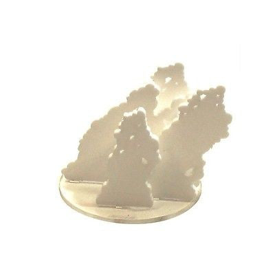 "4GROUND - 4"" Diameter white smoke acrylic marker - MG-TAM-123W"