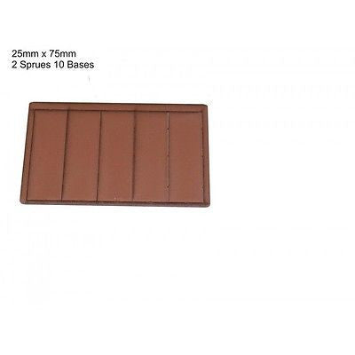 4GROUND - Brown primed bases 25 x 75 mm (10) - PBB-2575