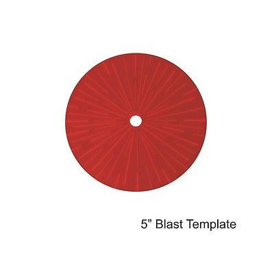 "4GROUND - Red 5"" Blast Template - MG-TAM-119R"