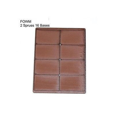 4GROUND - Brown primed bases FOW Medium (16) - PBB-FOWM