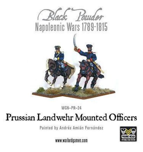 Wames Games - Black Powder - Napoleonic prussian landwehr officers mounted - 28mm