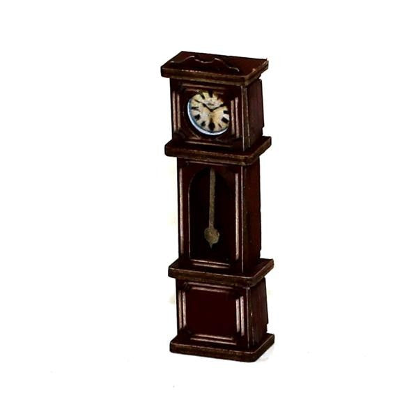 4GROUND - Grandfather clock in medium wood - 28mm - 28S-FAB-022M