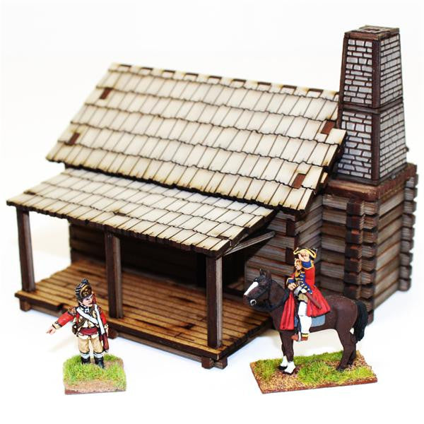 4GROUND - New England settler's log timber cabin - 28mm - 28S-AML-104