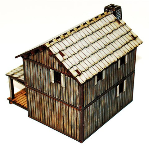 4GROUND  28S-AML-107 - New France settler's lofted log cabin - 28mm