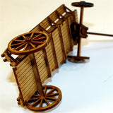 4GROUND - C19th Ox wagon/Flat bed wagon - 28mm - 28-CAW-301