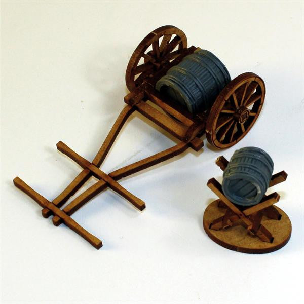 4GROUND - C19th Hand drawn water cart - 28mm - 28-CAW-304