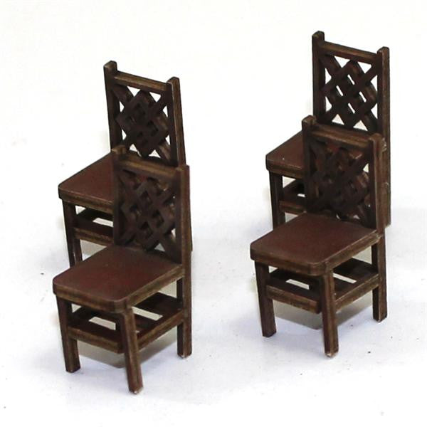 4GROUND - Square back (A) chair from the 1600s in medium wood - 28mm - 28S-FAB-007M