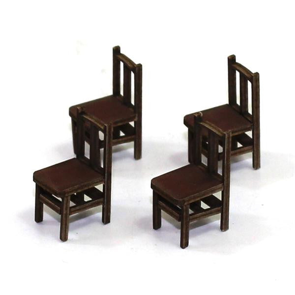 4GROUND - Bannister back chair (B) from the 1600s in medium wood - 28mm