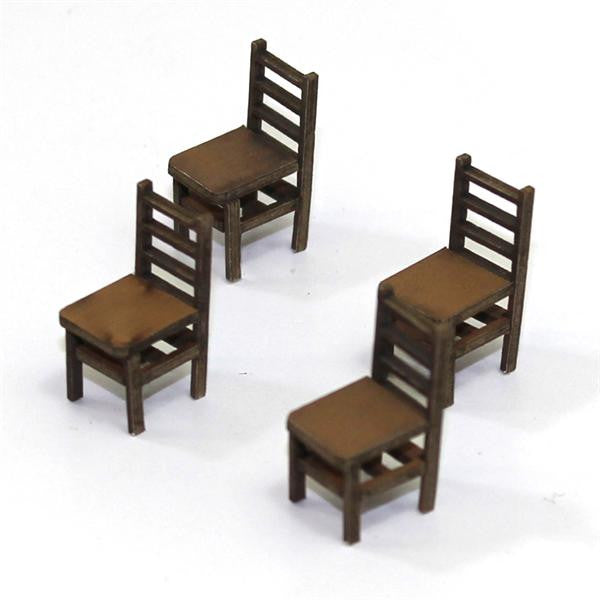 4GROUND - Ladder back (B) chair from the 1400s in light wood - 28mm - 28S-FAB-012L
