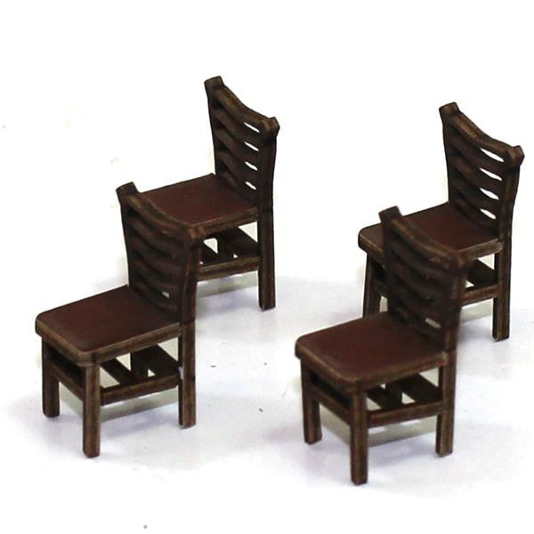 4GROUND - Ladder back (B) chair from the 1400s in medium wood - 28mm - 28S-FAB-012M