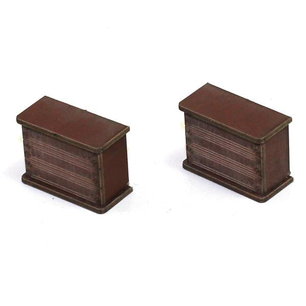 4GROUND - Chest of draws (A) in medium wood - 28mm - 28S-FAB-021M