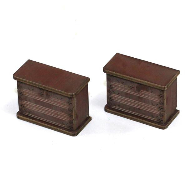 4GROUND - Chest of draws (B) in medium wood - 28mm - 28S-FAB-023M
