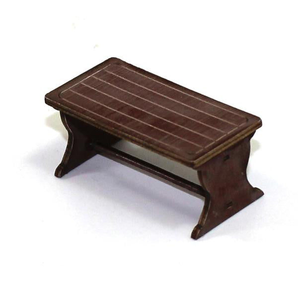 4GROUND - Farm house table in medium wood - 28mm - 28S-FAB-026M