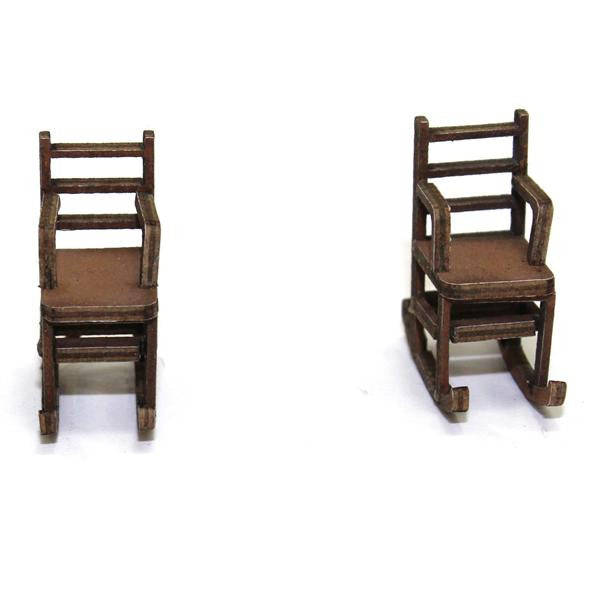 4GROUND - Ladder back rocking chair in light wood - 28mm - 28S-FAB-034L