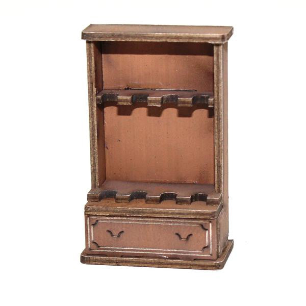 4GROUND - Gun cabinet in light wood - 28mm - 28S-FAB-037L