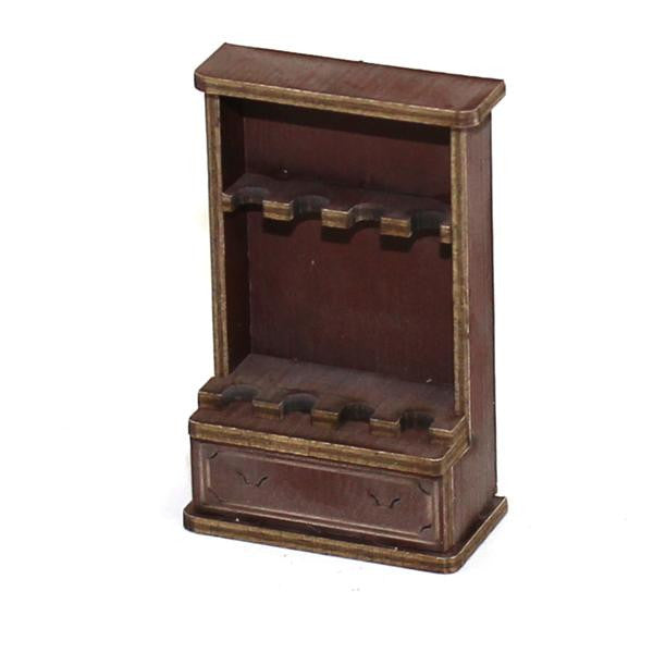 4GROUND - Gun cabinet in medium wood - 28mm - 28S-FAB-037M