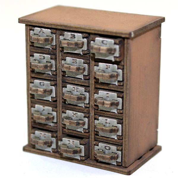 4GROUND - Filing cabinet A-O in light wood - 28mm - 28S-FAB-049L