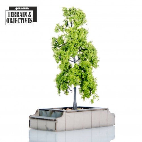 4GROUND - Seated Planters with Trees - 28mm - 28S-TAO-134