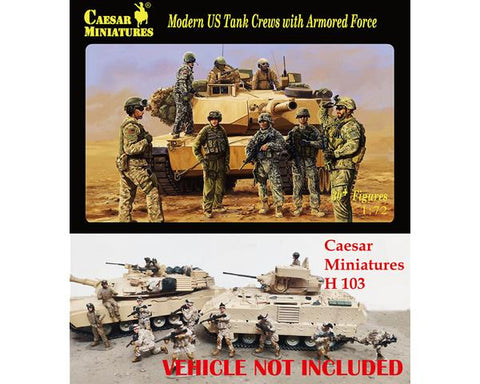 Caesar miniatures - Modern US tank crews with armored force - 1:72