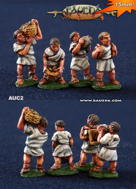 Baueda - Legionaries in fatigue dress removing rocks and soil (8 foot) - 15mm