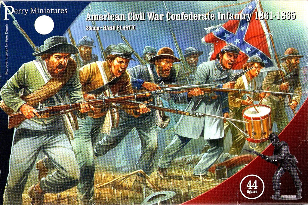 Perry ACW80 - American civil war confederate infantry 1861-1865 - 28mm