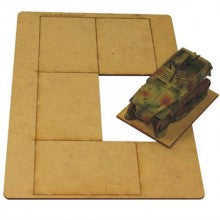 4GROUND - 5 Bases 75mm x 50mm - FB-7550