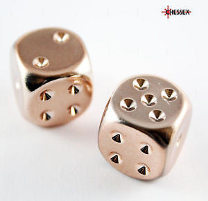 Chessex - 2 copper plated - 16mm 2-Die set