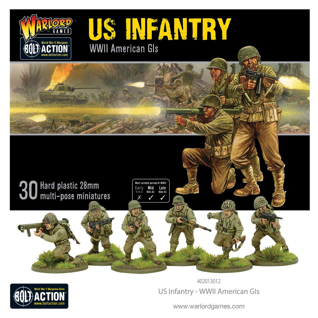 Warlord - Bolt Action - 402013012 - US Infantry - WWII American GIs - 28mm