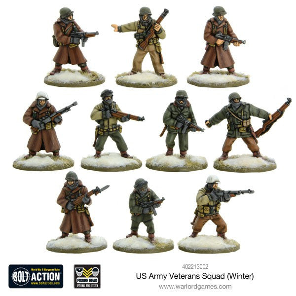 Warlord Games - Bolt Action - US Army veterans squad (Winter) - 28mm