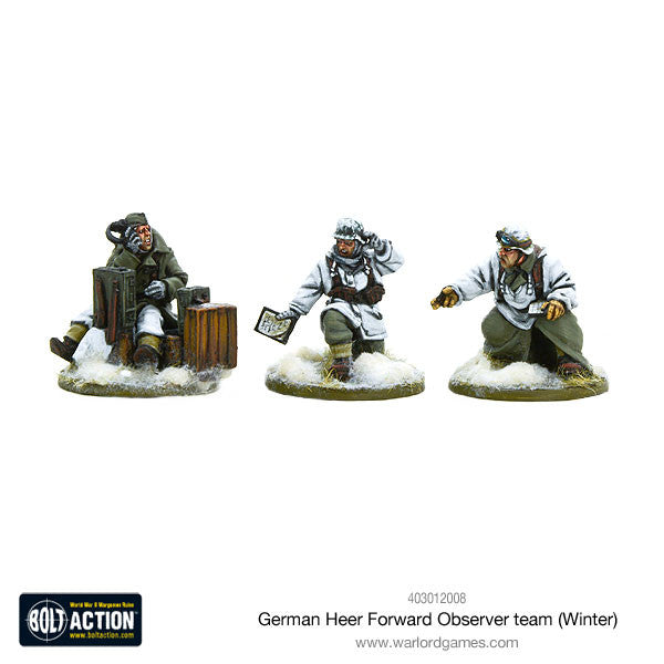 Warlord games - Bolt Action - German Heer FOO team winter - 28mm